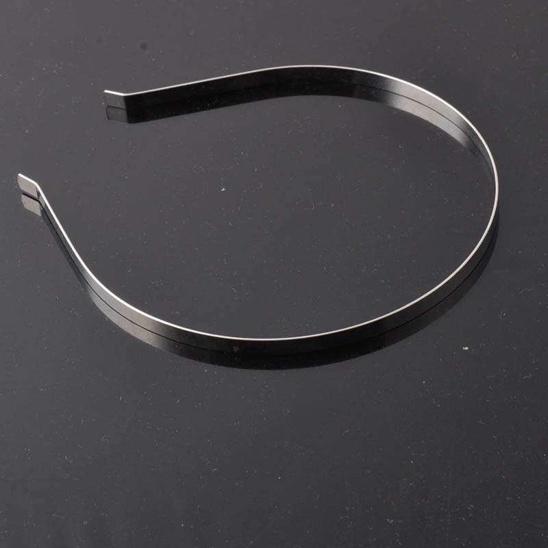 12x14mm 5Pcs Silver Plain Metal Headband 5mm Hair Band For Hair Accessories DIY Craft CP0327X(China (Mainland))