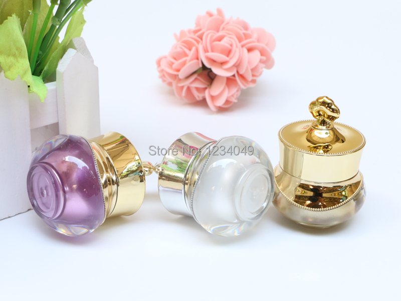 Travel Small 5g Crown Acrylic Refillable Bottles Empty Makeup Jar Cans Cosmetic Containers Cream Eyeshadow 10 DHL  -  Happy Sweet House store