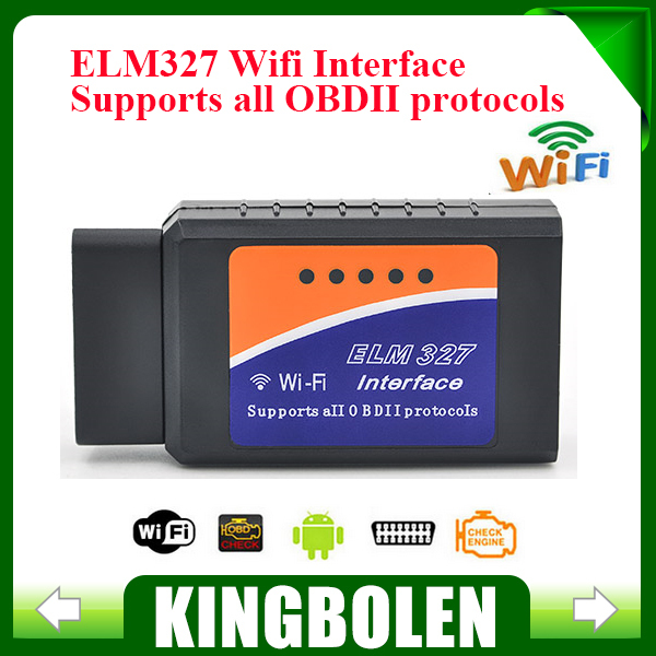 2015 Latest Version ELM327 WIFI OBD2 / OBDII Auto Diagnostic Scanner Tool ELM 327 WiFi(China (Mainland))