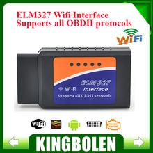2015 Latest Version ELM327 WIFI OBD2 / OBDII Auto Diagnostic Scanner Tool ELM 327 WiFi Diagnostic Tool(China (Mainland))