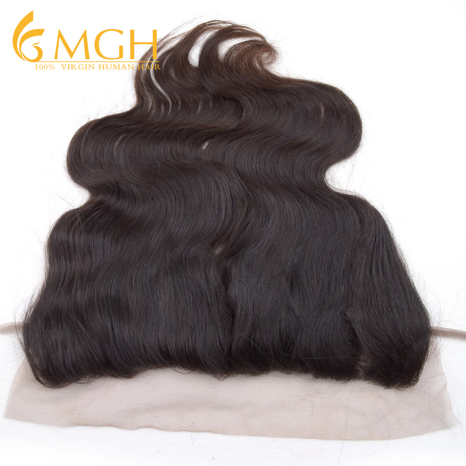 Brazilian 13x3 Lace Frontals Closure 5A Lace Frontals With Baby Hair Body Wave Human Hair Ear To Ear Lace Closure Free Shipping(China (Mainland))