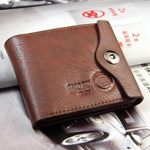Men's Magnetic Clasp Faux Leather Bifold Card Holder Pockets Slim Purse Wallet 2KON(China (Mainland))