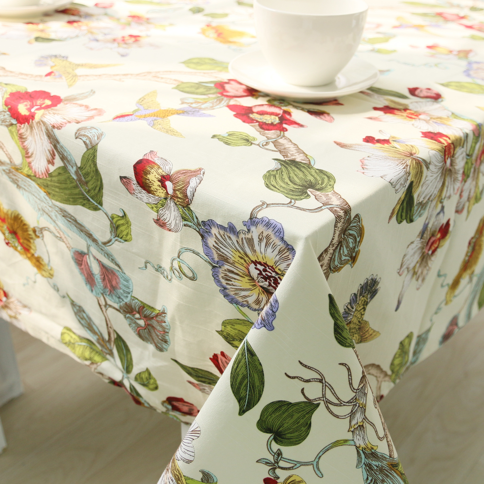 Chinese Style Floral Table Cloth Cotton Table Cover Toalha De Mesa Mantel Nappe Wedding Tablecloths For Garden Tables ZB-76(China (Mainland))