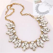 Fashion Jewelry Women Bohemian Crystal Necklace Chain Choker Bid Statement Chunky Necklace(China (Mainland))