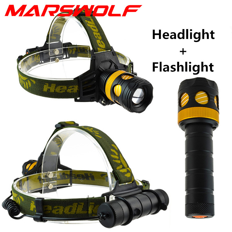 New Design Aluminun alloy waterproof CREE T6 2000LM 18650 AAA 3 modes LED headlamp headlight Flashlight