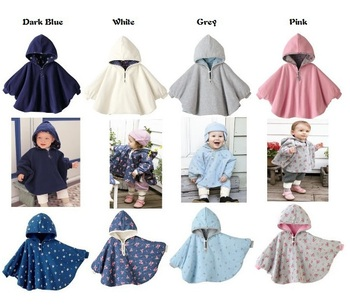 New 2016 Hot Autumn Winter Baby Outerwear Child Coat Girl Coverall Fashion Infant Boy Coats Two Sides Wearing Children's Cloak