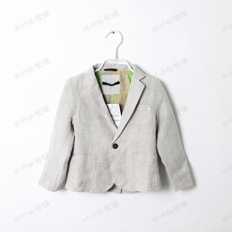 2013 New Linen Boy Small suit Children's coat(China (Mainland))