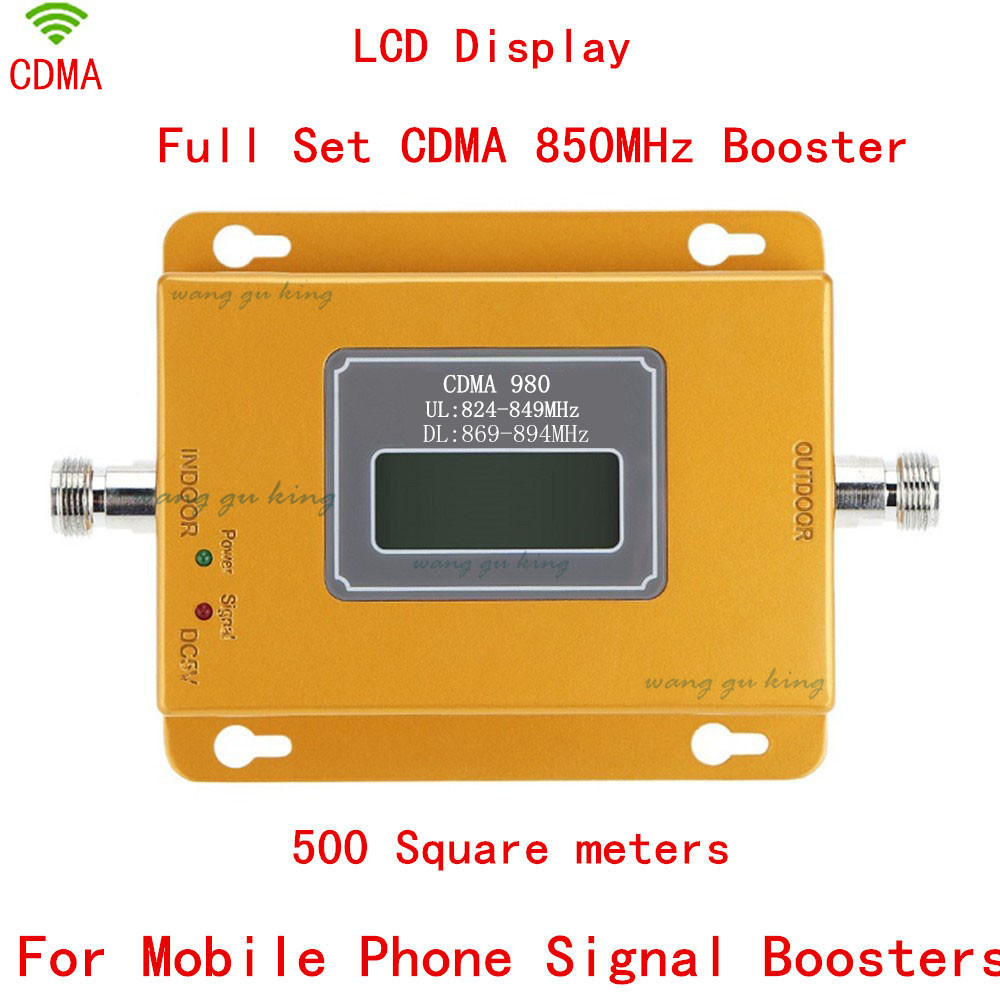 70dB LCD display function 980 CDMA 800mhz high gain CDMA 850Mhz mobile phone signal booster,GSM signal repeater cdma amplifier(China (Mainland))