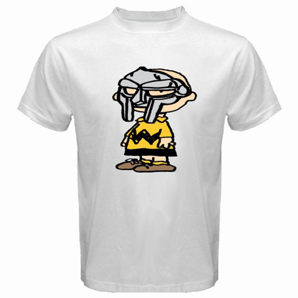 New Charlie Brown DOOM Wu Tang Clan Funny Men's White T-Shirt Size S 2XL O Neck T Shirts Male Low Price Steampunk
