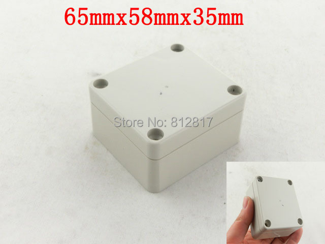 65x58x35mm Waterproof Plastic Case DIY Junction Box Joint Hinged Lid(China (Mainland))
