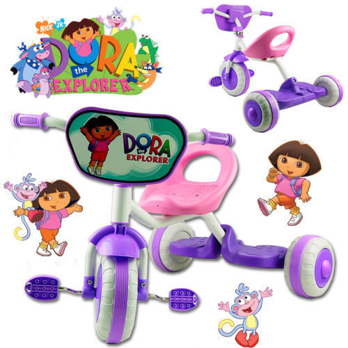 DORA THE EXPLORER BIKE TRIKE TRICYCLE KID CHILD 3 WHEEL CAR RIDE ON TOY SCOOTER BABY TOY(China (Mainland))