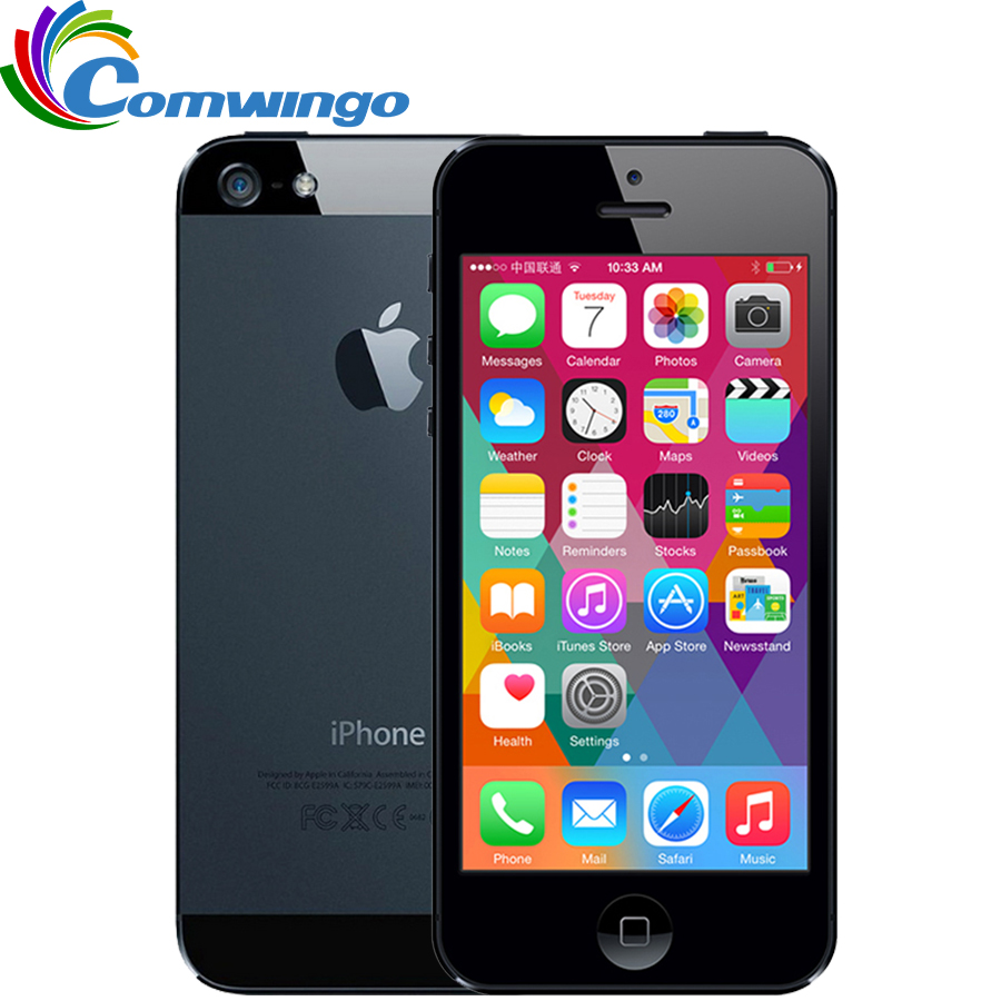 "Apple iPhone 5 16G ROM WCDMA Mobile phone Dual-core 1G RAM 4.0"" 8MP Camera WIFI GPS IOS 7-IOS 9 Optional Smart Phone(China (Mainland))"
