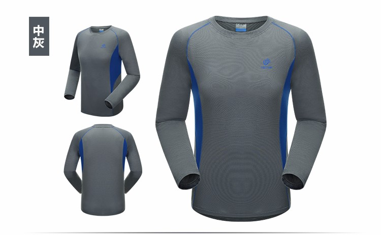 2016 spring new fashion Men's clothing Camping Hiking T-shirt quick drying Long Sleeve T-shirts Sport T shirt Outdoor Sports Tee