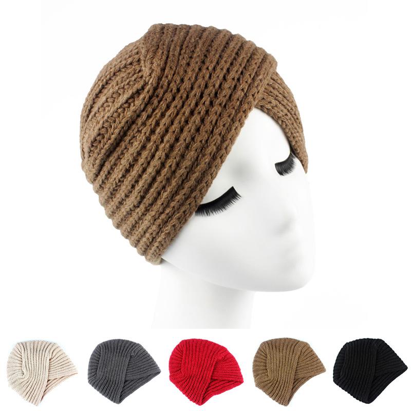 winter knit wool Turban Head Wrap Band twist headband Hat Cap Chemo Bandana KT-005(China (Mainland))