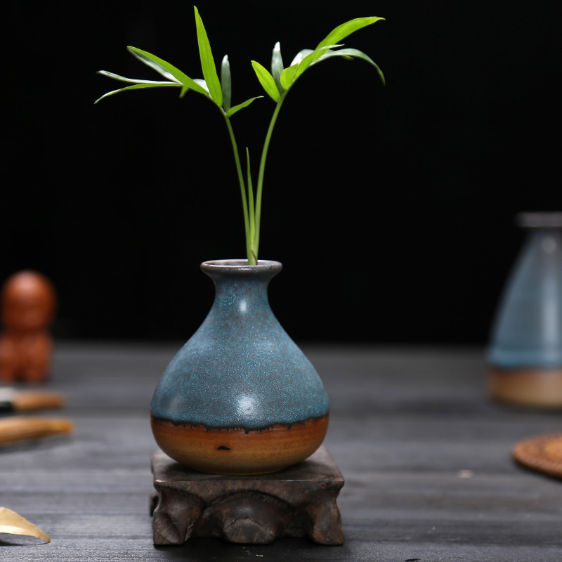 Free Shipping small blue vases small chinese vase chinese ceramic vase ceramic vase floreros de decoracion(China (Mainland))