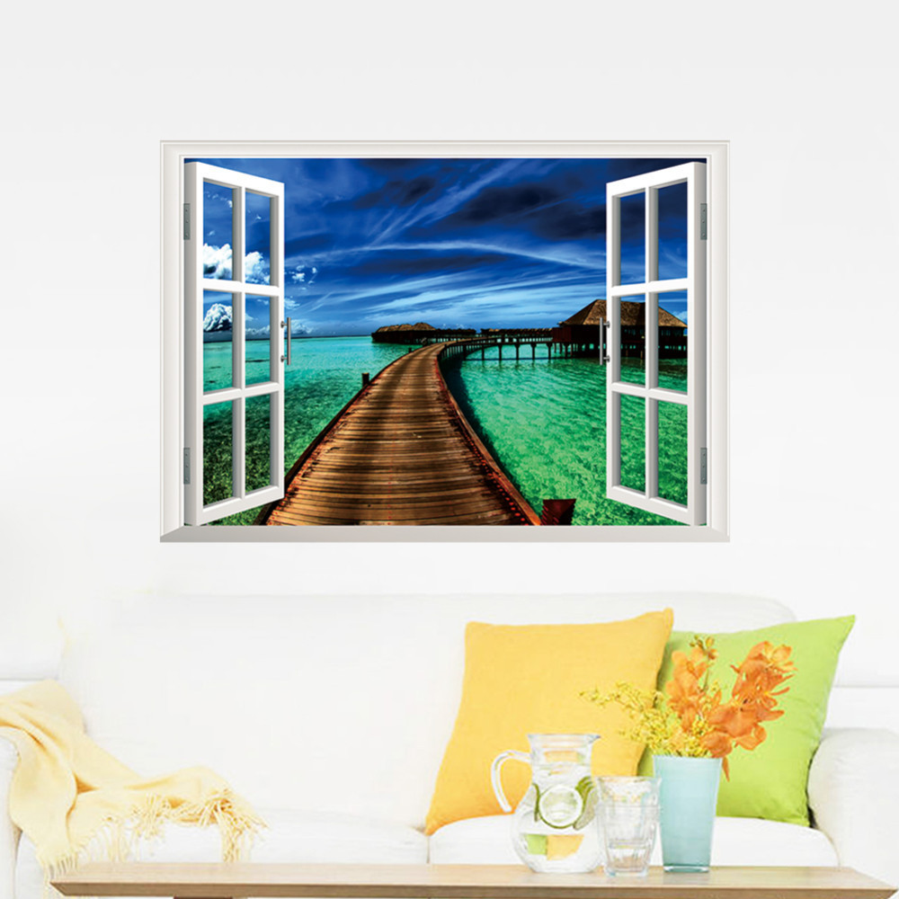 Buy 2015 Natural Scenery Bridge Sea 3d