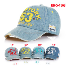 Brand New High Quality 2015 Kids Baseball Caps Baby Has & Caps Fashion Letter Jean Denim Cap Baby Boys Girls Sun Caps for 2-7Y(China (Mainland))