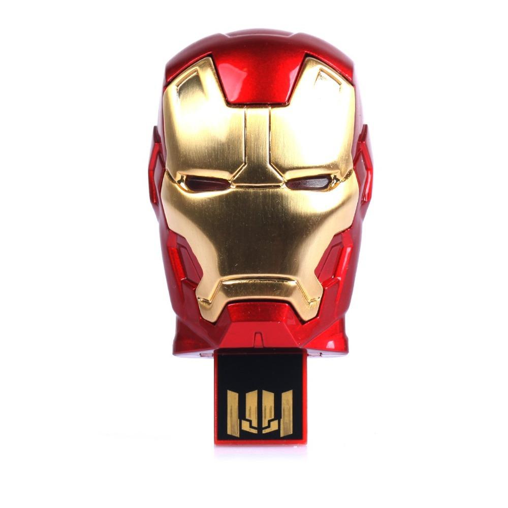 High quality Iron Man head usb flash drive pendrives 8gb memory stick pen drive personalized pendrive(China (Mainland))