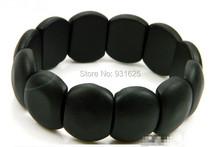 Natural Black Bian Stone Bracelet Healthy care Hand row brief elliptic stone needle bracelet Free shipping wholesale & retail()