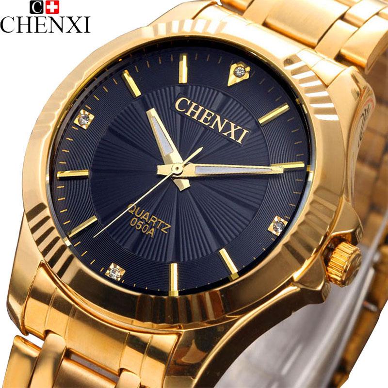 CHENXI Gold Watch Men Watches Top Brand Luxury Famous 2016 Wristwatch Male Clock Golden Quartz Wrist Watch Relogio Masculino<br><br>Aliexpress