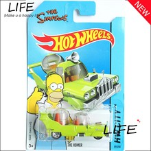 Free Shipping Hot Wheels Simpsons Family Pink Car Models Metal Diecast Car Collection Kids Toys Vehicle For Children Juguetes(China (Mainland))