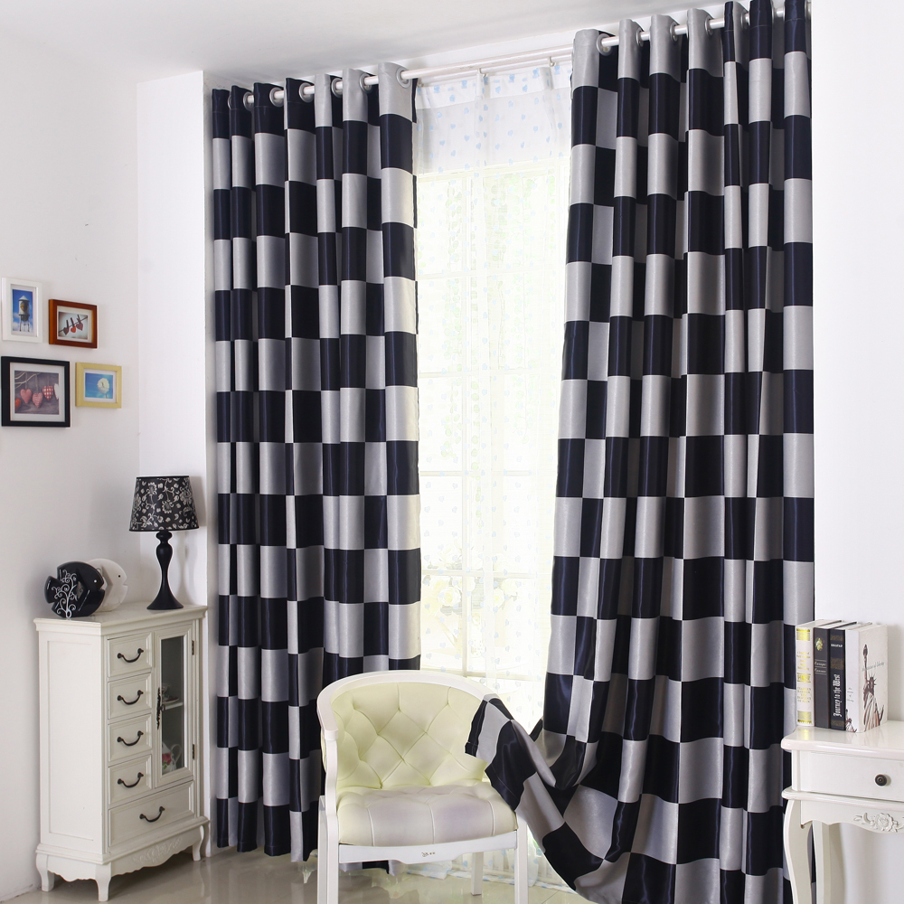 Online kopen wholesale black and white drapes for living room uit ...