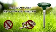 Outdoor Safe Harmless Solar Power Ultrasonic Multi-Pulse Snake Mole Mouse Pest Repeller Control Garden Yard(China (Mainland))