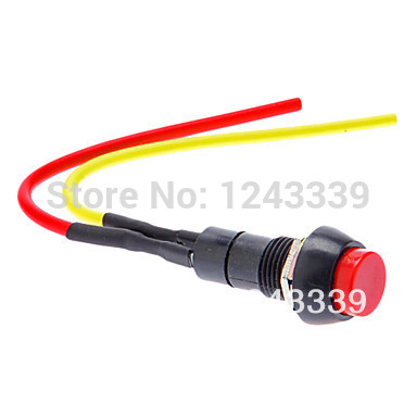 (5 pieces/lot) Red 12V Latching Locking Round Push Button Switch Spst Car Dash Boat(China (Mainland))