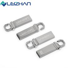 LEIZHAN Unidad Flash USB Personalizado Unidad Flash USB de Metal 16 GB 32 GB Pendrive USB Memory Stick 4 GB 8 GB U Palo Pequeño Pen Drive