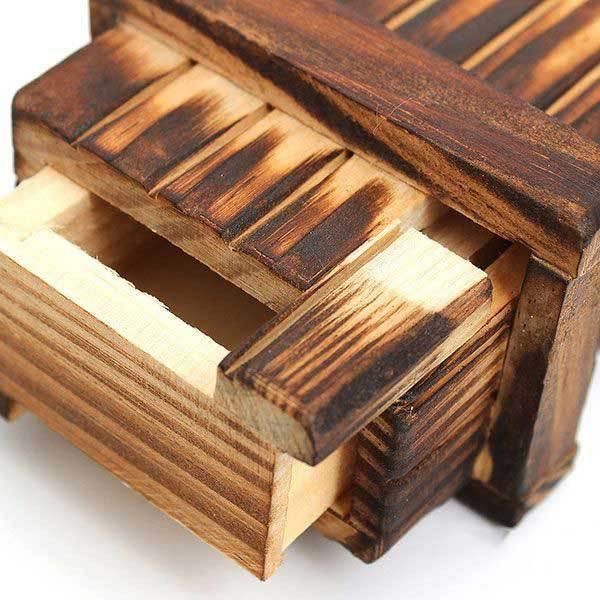 Atlantago Mini Compartment Wooden Secret Toy Magic Puzzle Box(China (Mainland))