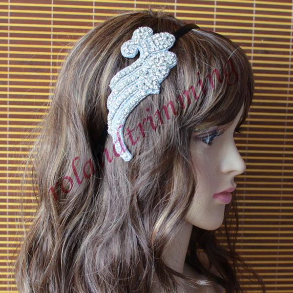 free shipping 2015 new bridal rhinestone crystal wedding headband beaded ra303(China (Mainland))