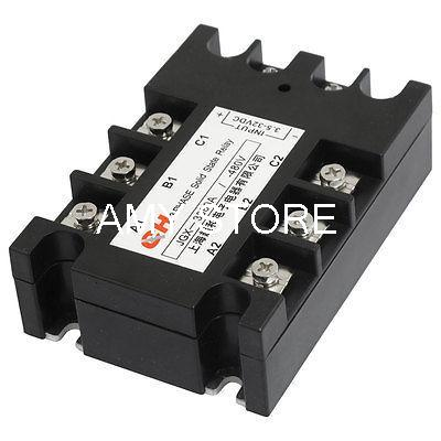 Panel Mount 8 Terminals 3 Phase SSR Solid State Relay 3.5-32VDC/480VAC 40A<br><br>Aliexpress