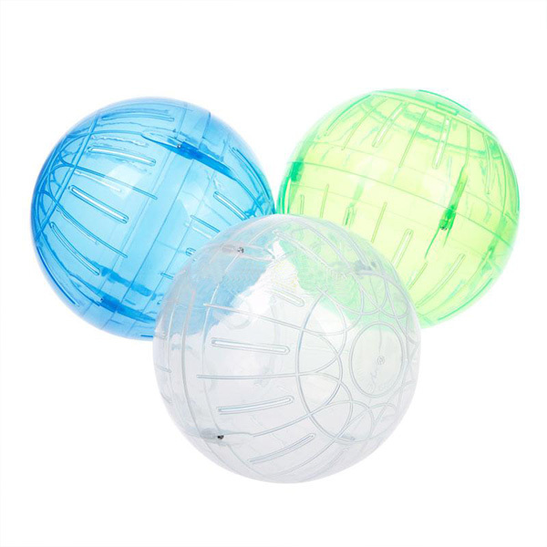 Pet Rodent Mice Hamster Gerbil Rat Jogging Play Exercise Plastic Small Ball Toy random color(China (Mainland))