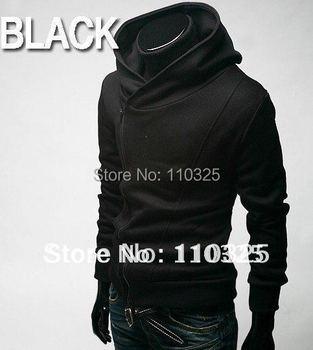 Free Shipping 2014 NEW Hot High Collar Men's Jacket ,Men's Sweatshirt,Dust Coat ,Hoodies men ,cotton ,5 sizes ,drop shipping  M1
