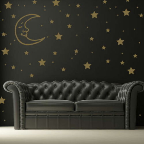 Stars And Moons Wall Decal For children room Removable Wall Art Home Decor Kids Wall Stickers(China (Mainland))