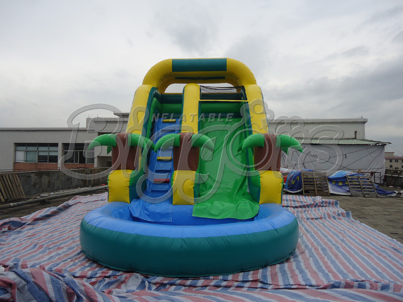 Hot Sell High Quality PVC Commercial Inflatable Water Slide With Pool<br><br>Aliexpress