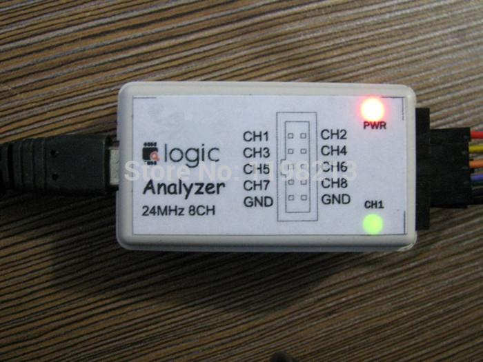 Logic Analyzer USB 24M 8CH  with buffer chip (Oscilloscopes)