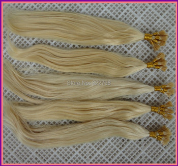 Free Shipping Virgin Indian #613 Natural Striaight Real Human Hair I Tip hair extension 8''-30'' all color in stock