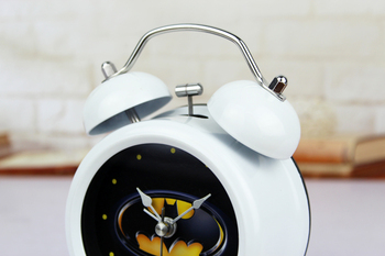 Hero Batman Animation Metal Alarm Clock with Night Light