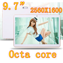 9.7 inch Hexa Core 1280X720 IPS DDR 2GB ram 64GB 8.0MP 3G Dual sim card Wcdma+GSM Tablet PC Tablets PCS Android4.4 7 9