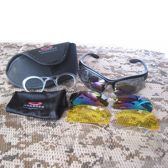 Guarder C3 Tactical Shooting Glasses w/4 Set Lens