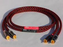 Бесплатная доставка HIFI RCA кабель утолщенной Budweiser разъем Canare профессиональная трансляция кабель руководство 0.5 м 1 м 1.5 м 2 м DIY