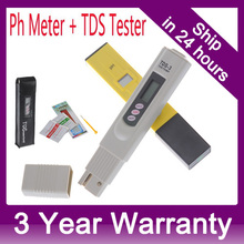 Digital PH Meter + TDS Tester for Aquarium, Fishing Industry, Swimming Pools, School Laboratories, Food & Beverage 0-9999 PPM