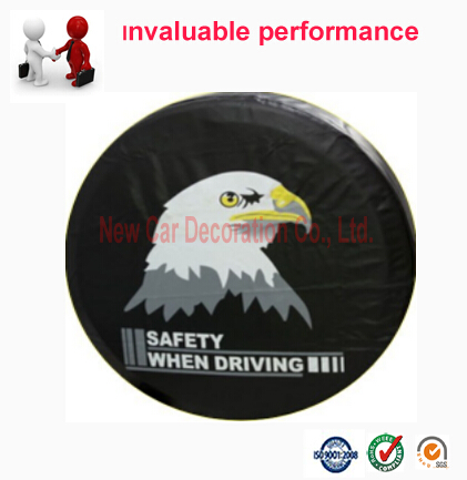 Car styling PVC car spare wheel cover spare tire cover For Toyota Suzuki Hoda Mitsubishi Isuzu 13 14 15 16 17 inch CY-26(China (Mainland))