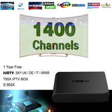 European IPTV Box Android TV Box Sky IPTV Receiver 1400+Sky French Turkish Netherlands Channels Better Than MXV Android TV Box