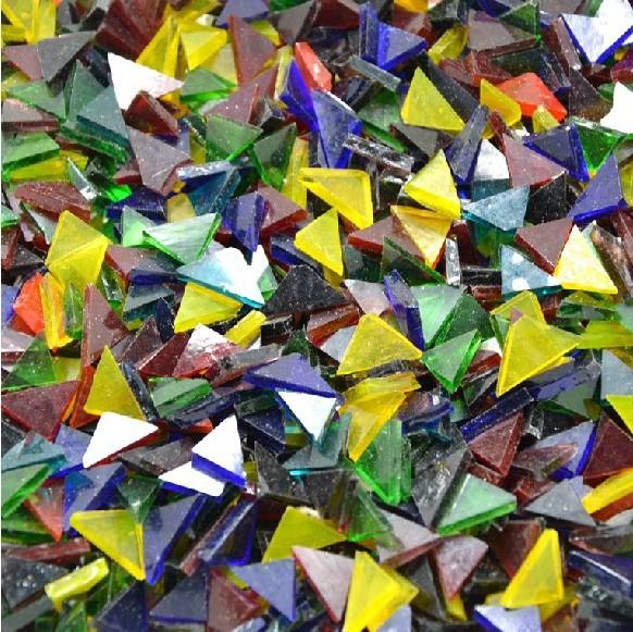 Гаджет  850PCS/450Gram/Lot,Transparent glass triangle,Mosaic art,Craft material,DIY lantern,Garden ornament,Home decoration.1x1.5cm None Строительство и Недвижимость