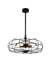 Pendant Light LED Incandescent Rustic Retro Industrial Style Black Iron Fan-like Light Parrot Uncle E27 EMS Free Shipping CYDDFS(China (Mainland))