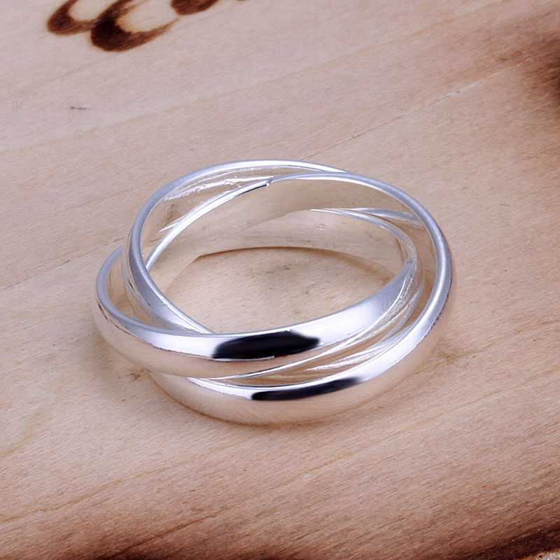 Lose Money Promotions! Wholesale 925 silver ring, 925 silver fashion jewelry, Three Circles Ring SMTR167(China (Mainland))