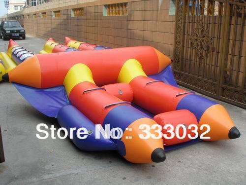 High quality 4 people banana boat 0.9mm Plato PVC tarpaulin 4 seat Inflatable flyfish boat banana boat (CE/UL) air pump(China (Mainland))