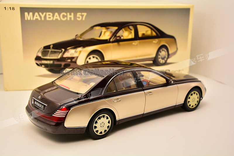 * One Piece Solely! Gold & Crimson 1:18 AutoArt AA Maybach 57 Diecast Mannequin Automobile Luxurious Assortment Mini Mannequin Automobile Kits Limitied Version